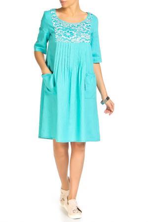 Платье Disetta. Цвет: морская волна
