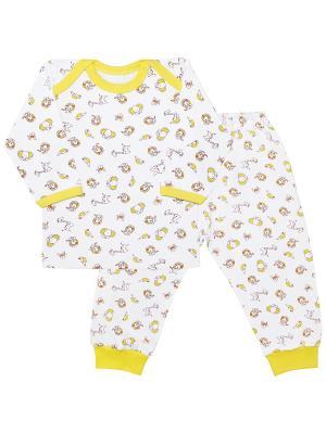 Пижама Веселый малыш. Цвет: желтый, белый