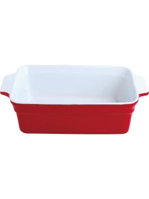 Форма для запекания керамика (духовка/гриль/микроволновка) 29*16,3*8,8 см FRANK MOLLER. Цвет: красный