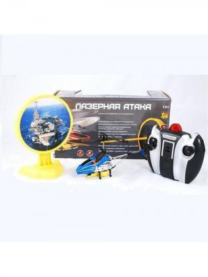 Радиоуправляемый вертолет с инфракрасной пушкой и мишенью Властелин небес синий ВластелиНебес. Цвет: синий