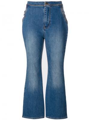 Укороченные расклешенные джинсы Ellery. Цвет: синий