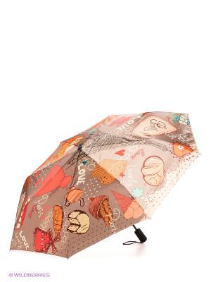 Зонт Flioraj. Цвет: бежевый, желтый, красный
