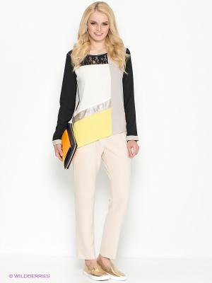 Блузка Motivi. Цвет: бежевый, желтый, белый