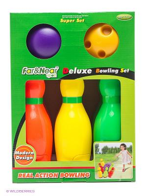 Набор для боулинга Far&Near. Цвет: зеленый, желтый, красный