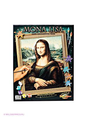 Раскраска по номерам Мона Лиза Schipper. Цвет: зеленый, коричневый