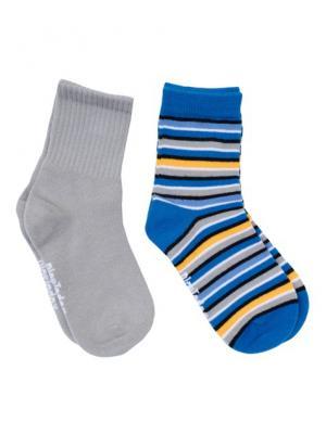 Носки PlayToday. Цвет: серый, голубой