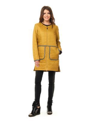 Пальто Best&Best. Цвет: горчичный, серый
