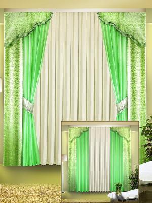 Комплект штор ZLATA KORUNKA. Цвет: зеленый