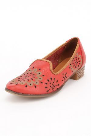 Туфли ENISSE. Цвет: красный