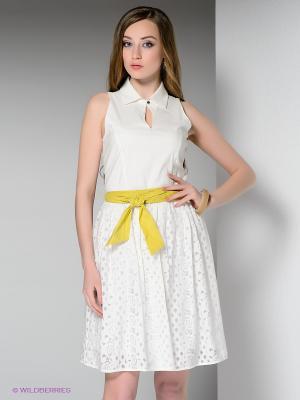 Платье BOVONA. Цвет: молочный