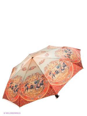 Зонт RAINDROPS. Цвет: красный, терракотовый