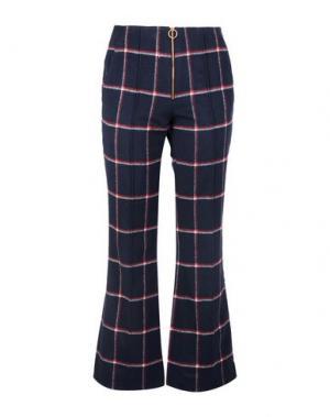 Повседневные брюки LUCKY CHOUETTE. Цвет: темно-синий