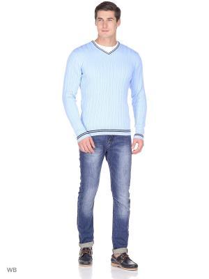Пуловер JLAB. Цвет: голубой