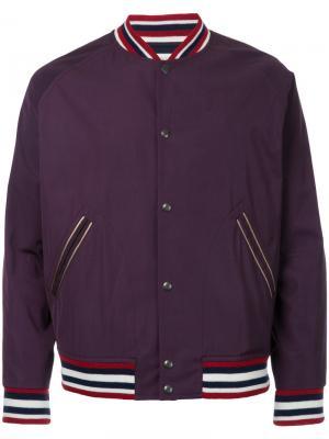 Куртка-бомбер на молнии Kent & Curwen. Цвет: розовый и фиолетовый