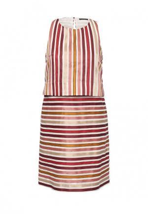 Платье Sisley. Цвет: бежевый