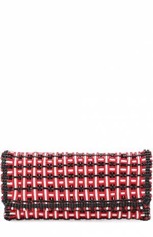 Клатч Bistrot Balenciaga. Цвет: красный