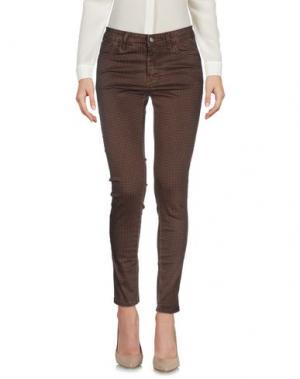 Повседневные брюки YES ZEE by ESSENZA. Цвет: коричневый