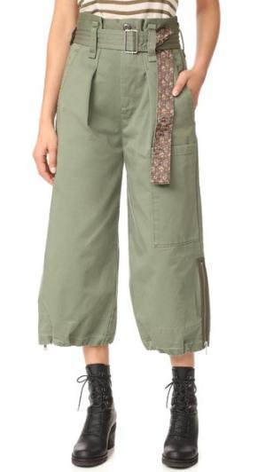 Юбка-брюки в стиле карго с поясом Marc Jacobs. Цвет: зеленый милитари