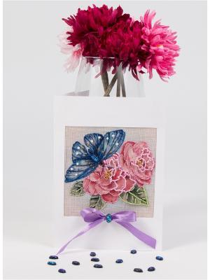 Набор для создания открытки Шиповник любви Матренин Посад. Цвет: голубой, розовый