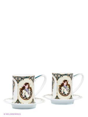Чайный набор Габриэлла Pavone. Цвет: молочный, синий