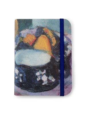 Флорентийская записная книжка. Посуда и фрукты Власта. Цвет: голубой, оранжевый, синий