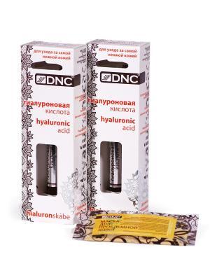 Гель Гиалуроновая кислота (2х10мл) и Маска для проблемной кожи лица (15мл) DNC. Цвет: прозрачный, светло-желтый