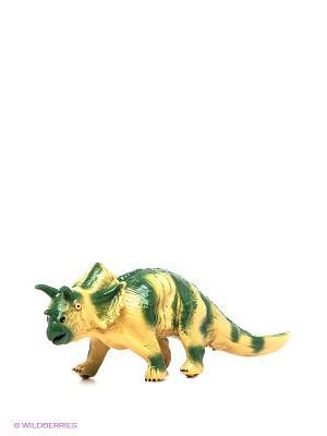 Динозавр Трицератопс Amico. Цвет: зеленый, бежевый