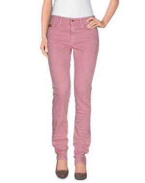 Джинсовые брюки UNLIMITED. Цвет: розовый