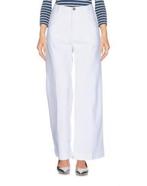 Джинсовые брюки VINTAGE 55. Цвет: белый