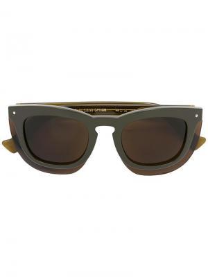 Солнцезащитные очки Grey Ant. Цвет: коричневый