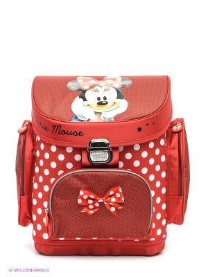 Ранец Минни Disney. Цвет: красный