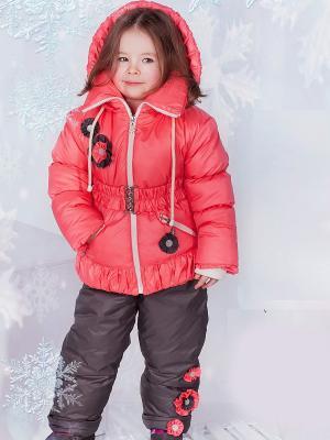 Зимний комплект babyAngel. Цвет: серый, коралловый