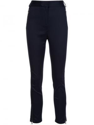 Укороченные брюки Veronica Beard. Цвет: синий