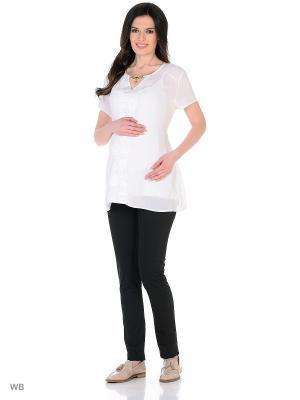 Брюки для беременных EUROMAMA. Цвет: черный