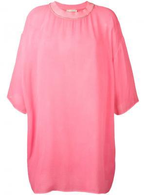 Объемная футболка Amen. Цвет: розовый и фиолетовый