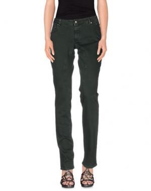 Джинсовые брюки SIVIGLIA. Цвет: темно-зеленый
