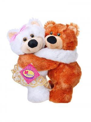 Мягкая игрушка Мишки Ромео и Джульетта 2.292.1  цвет коричневый, белый Malvina. Цвет: коричневый, белый