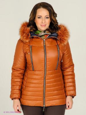 Куртка Alisa Line. Цвет: терракотовый