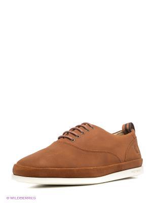 Туфли Fred Perry. Цвет: коричневый