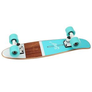 Скейт мини круизер  Shelby Ocean 6.25 x 23 (58.4 см) Eastcoast. Цвет: голубой,коричневый