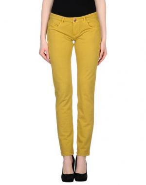 Повседневные брюки PRAIO. Цвет: желтый