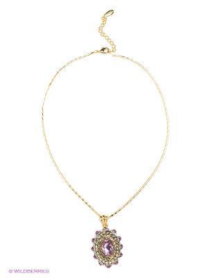 Колье Bijoux Land. Цвет: бронзовый, фиолетовый