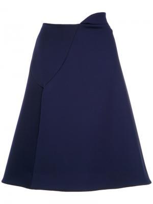 Neoprene a-line skirt Gloria Coelho. Цвет: синий