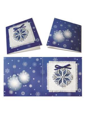 Набор для изготовления открытки Рождественская звезда (синяя) ZENGANA. Цвет: синий