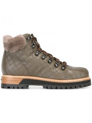 Стеганые ботинки Trekking Le Silla. Цвет: зелёный