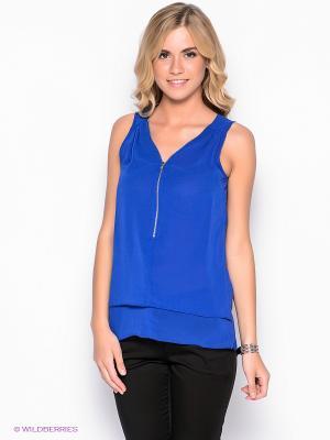 Блузка New Look. Цвет: синий