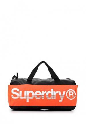 Сумка спортивная Superdry. Цвет: черный