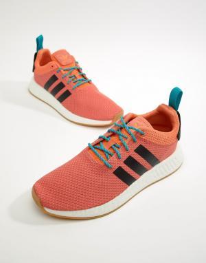 Adidas Originals Оранжевые кроссовки NMD R2 CQ3081. Цвет: оранжевый