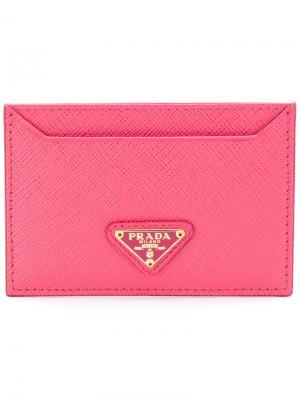 Визитница с логотипом Prada. Цвет: розовый и фиолетовый