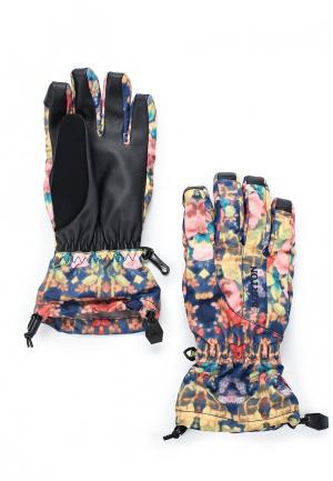 Перчатки горнолыжные Burton. Цвет: разноцветный